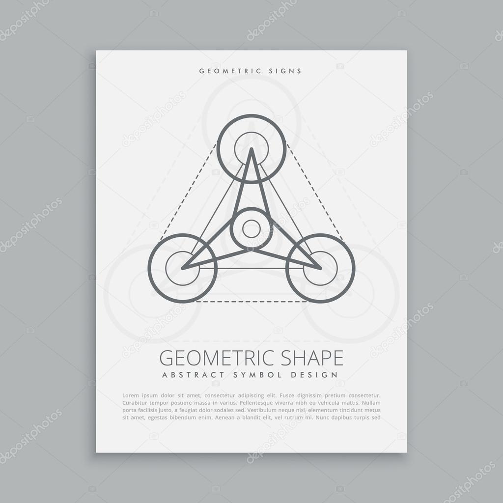 symbol of sacred geometry vector illustration stock vector