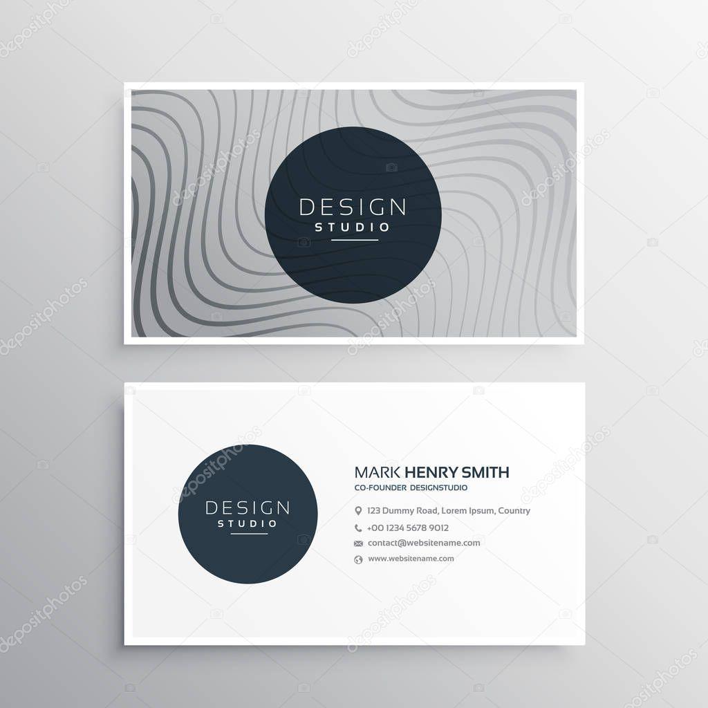 plantilla de tarjeta de identidad de negocio con líneas onduladas ...