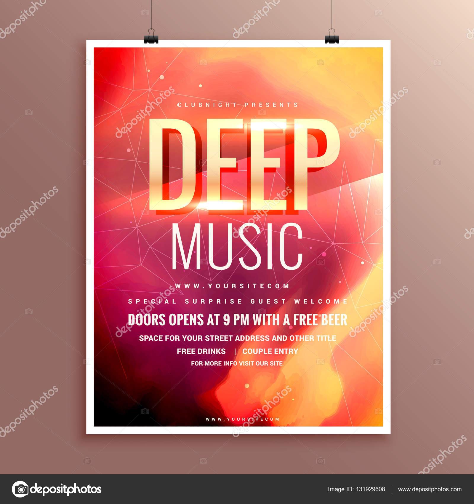 diseño de plantilla música flyer folleto cartel para su evento ...