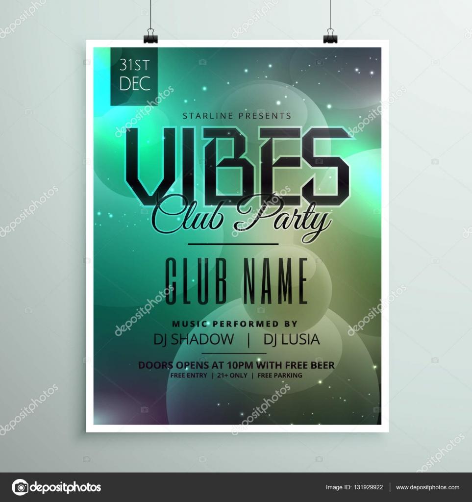 Club Party Musik Flyer Vorlage mit Einladung Event-details ...