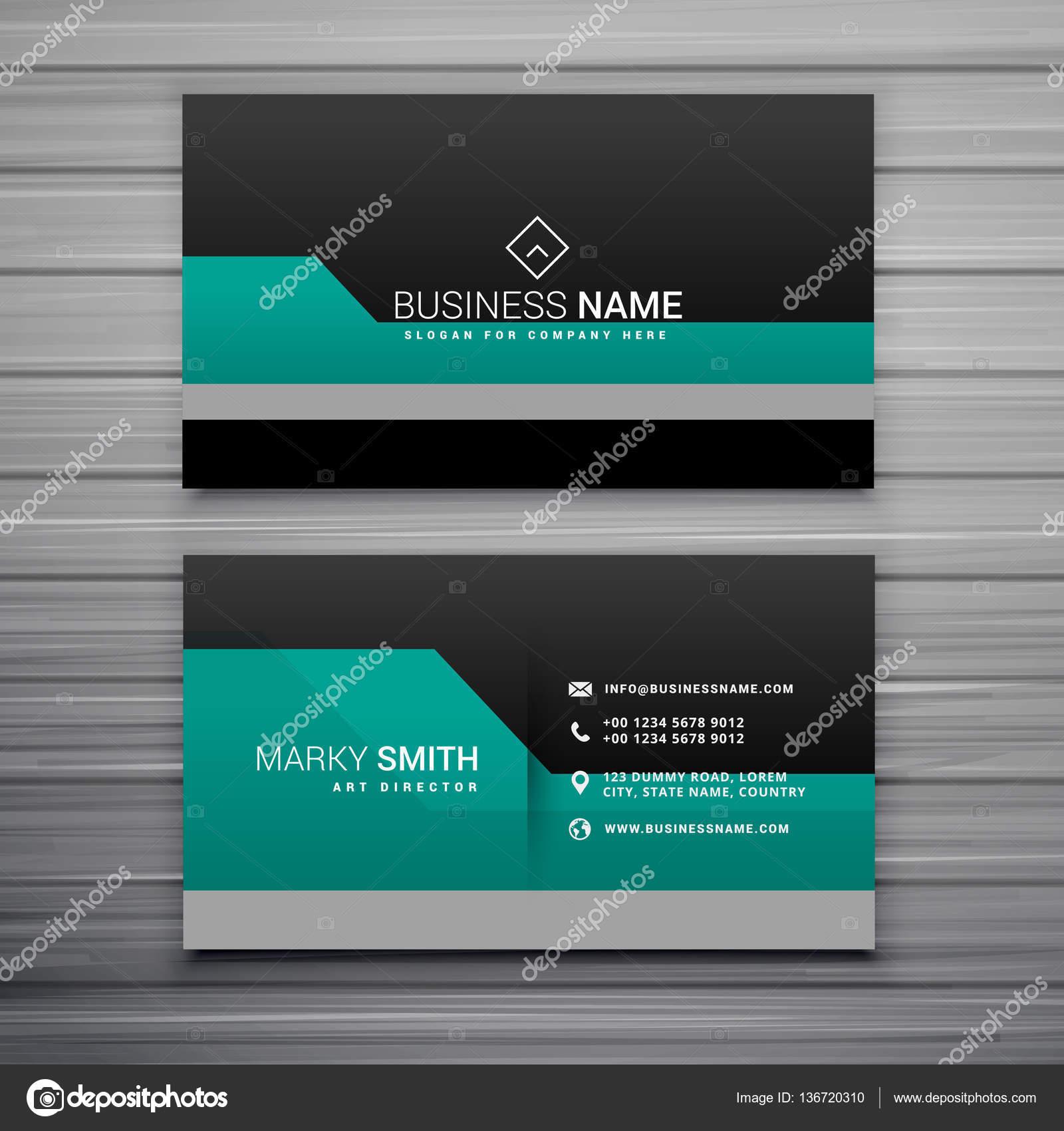 elegant business card template design — Stock Vector © StarLine ...