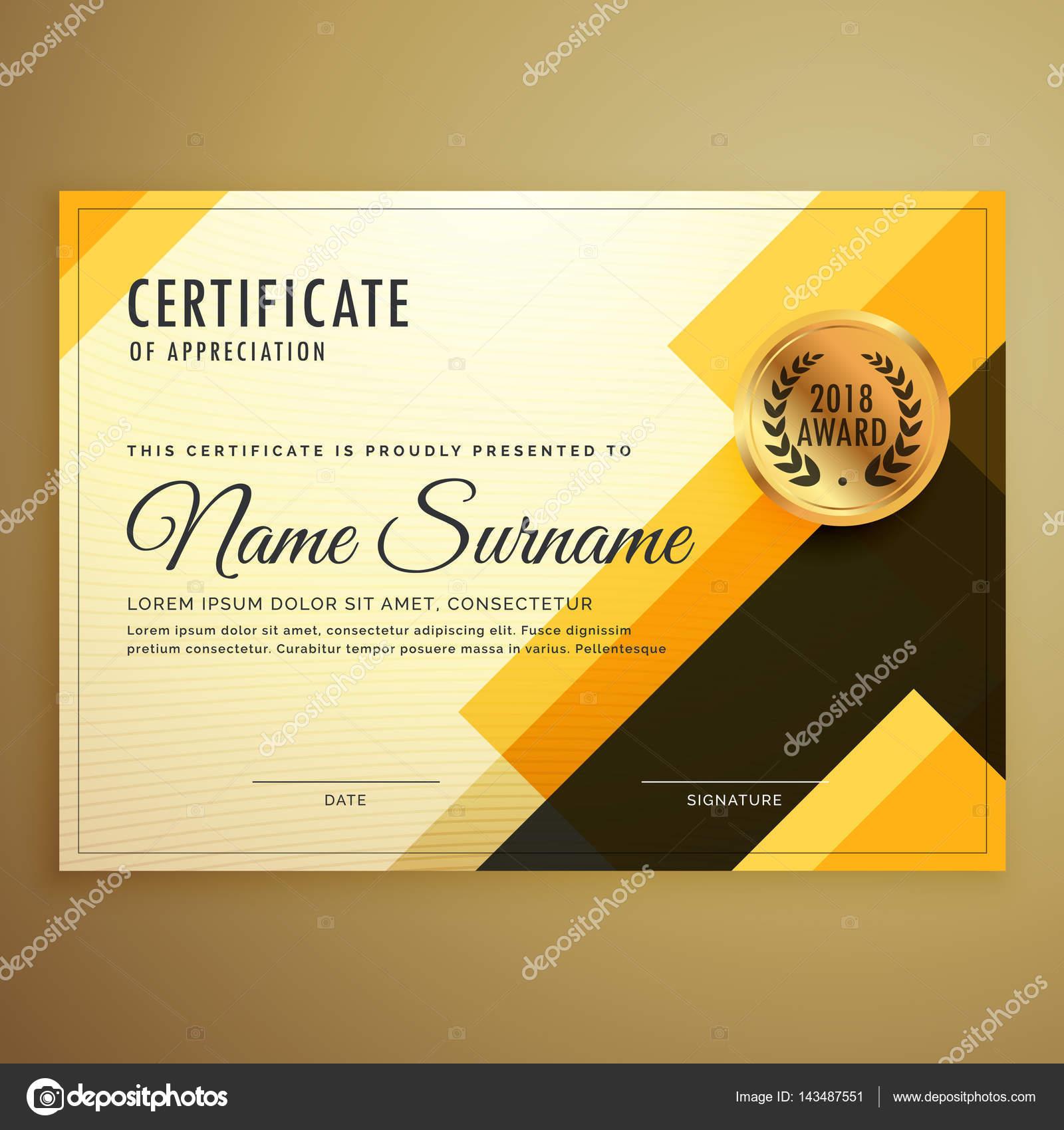 moderne kreatives Design Zertifikatvorlage mit geometrischen Form ...