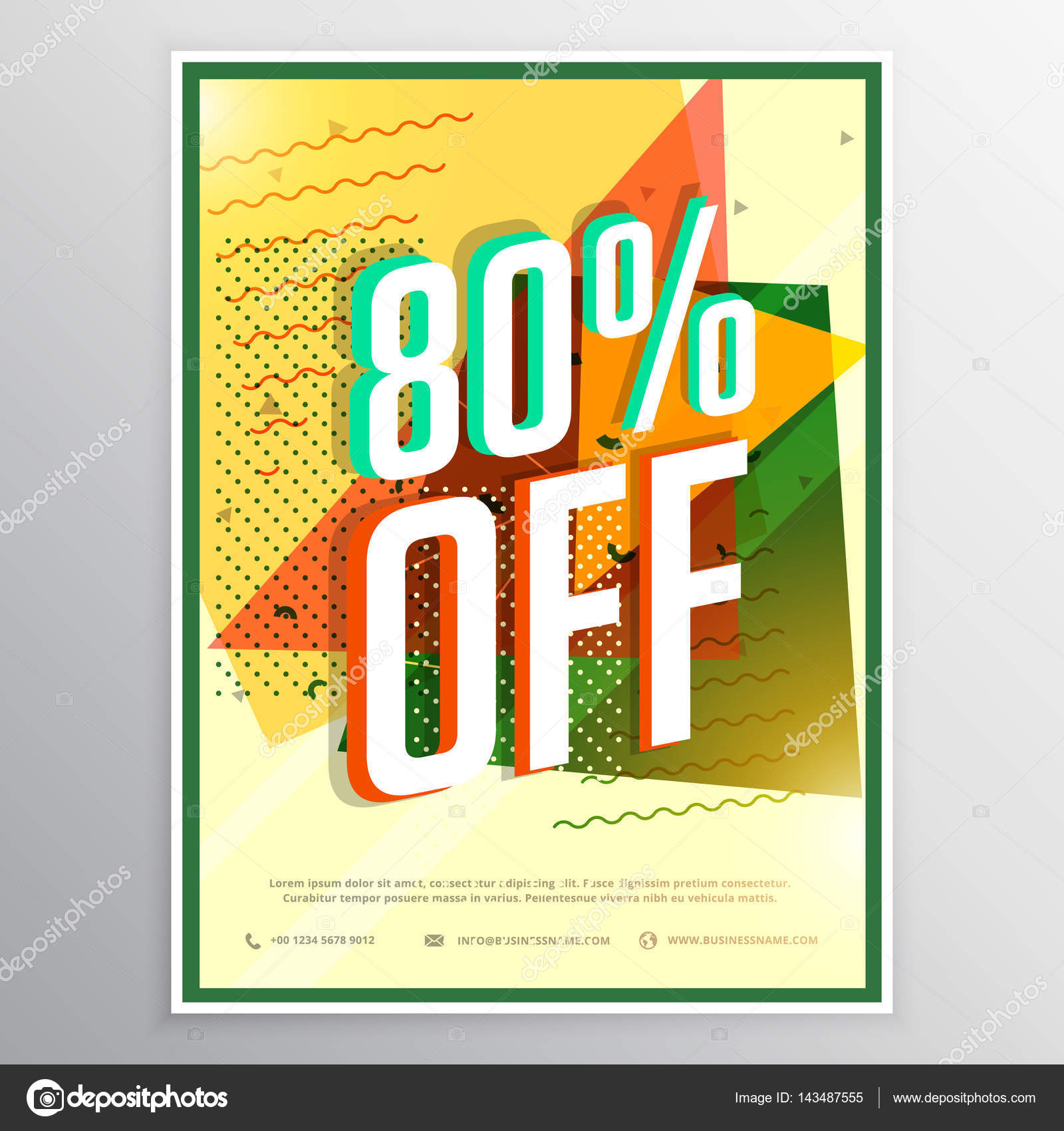 sale poster banner flyer design concept stock vector starline