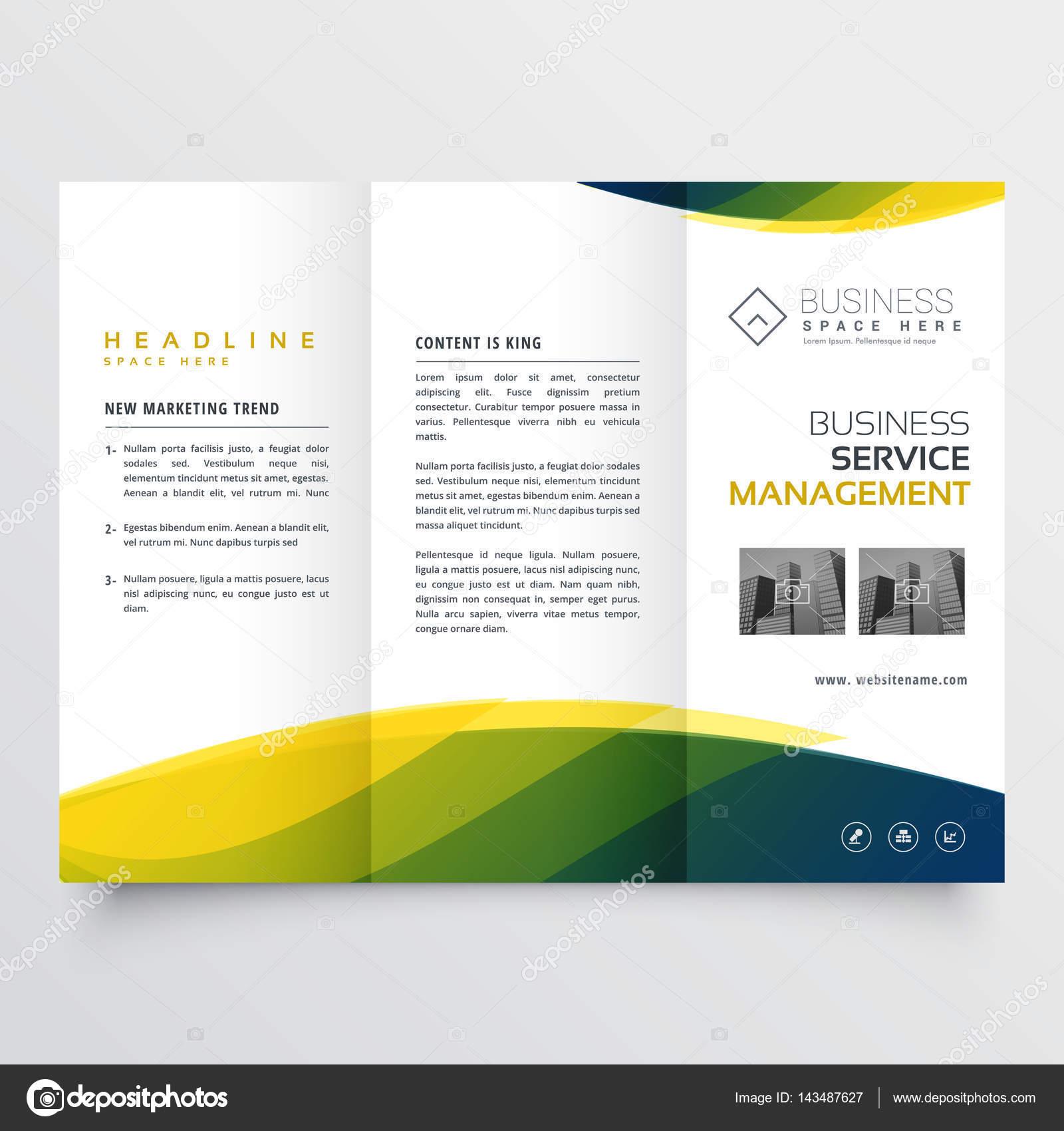 diseño de plantillas negocios creativos tri-fold brochure folleto ...