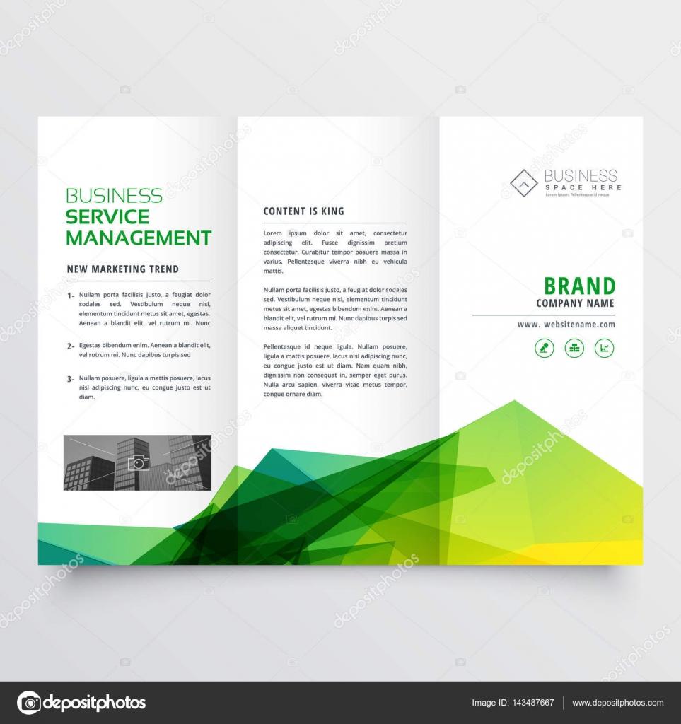 plantilla de diseño de triple creativo verde Resumen folleto flyer ...