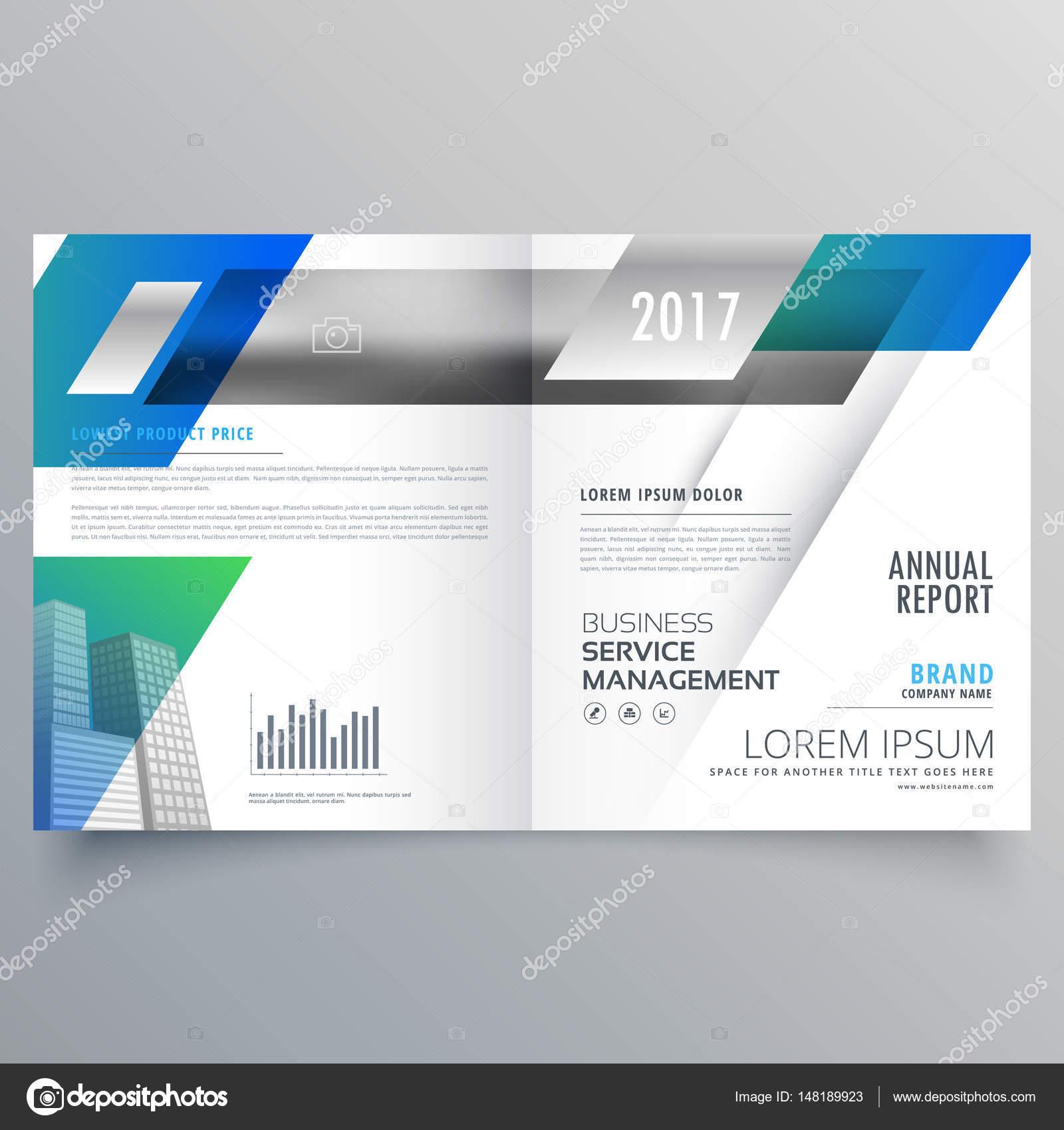 business bifold brochure template vector design stock vector
