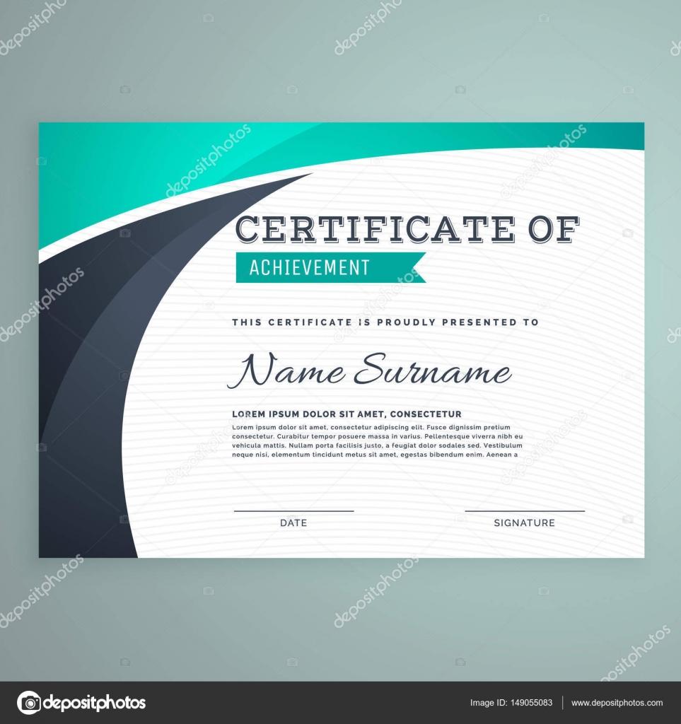 stylische blaue Zertifikatvorlage design — Stockvektor © StarLine ...