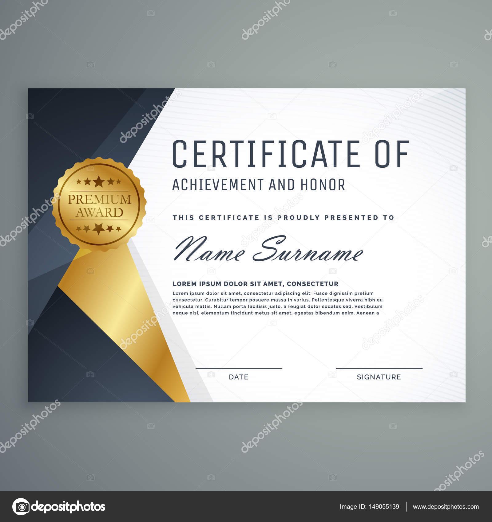 premium certificate of appreciation award design stock vector