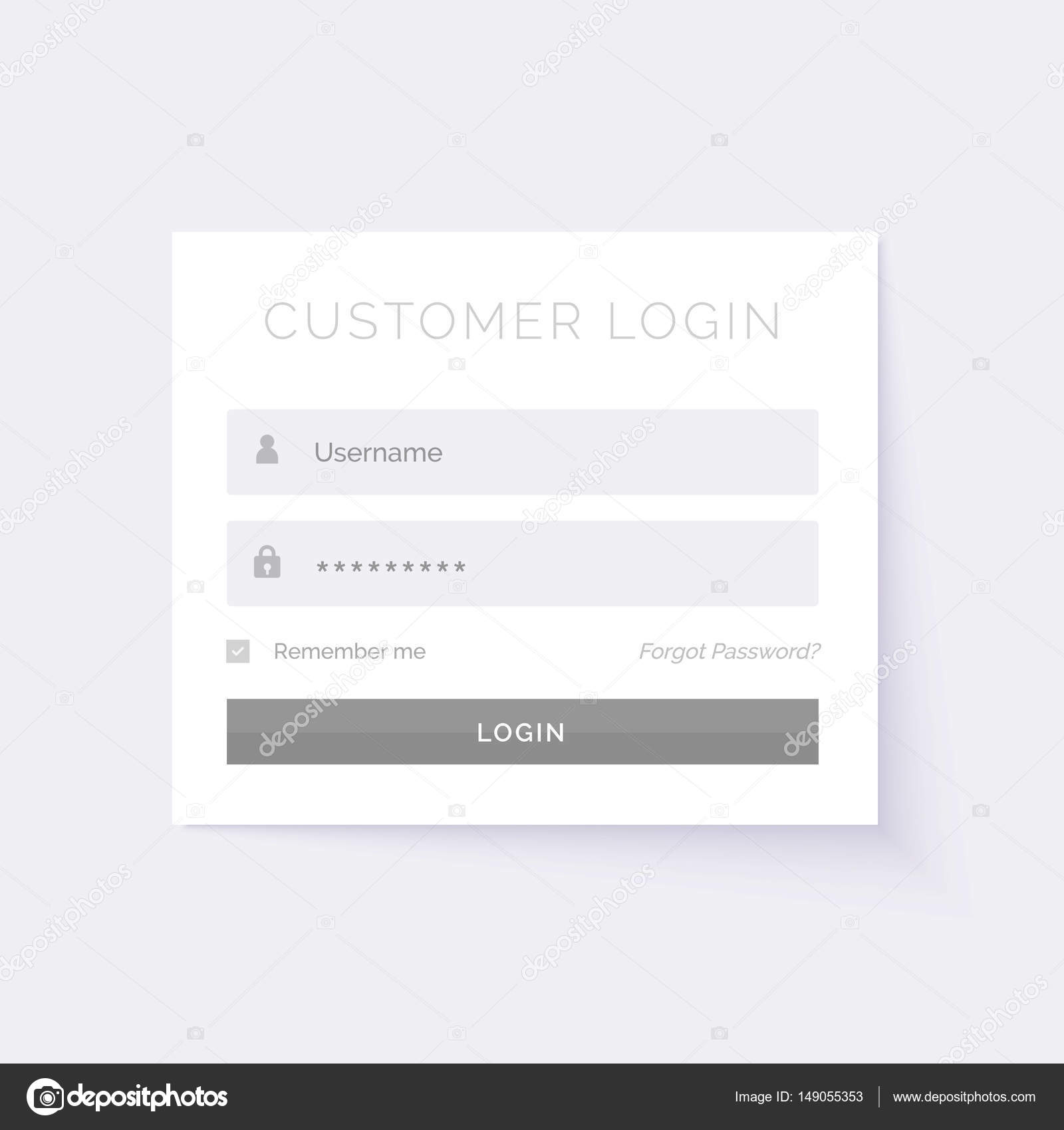 minimal white login form design template — Stock Vector © StarLine ...