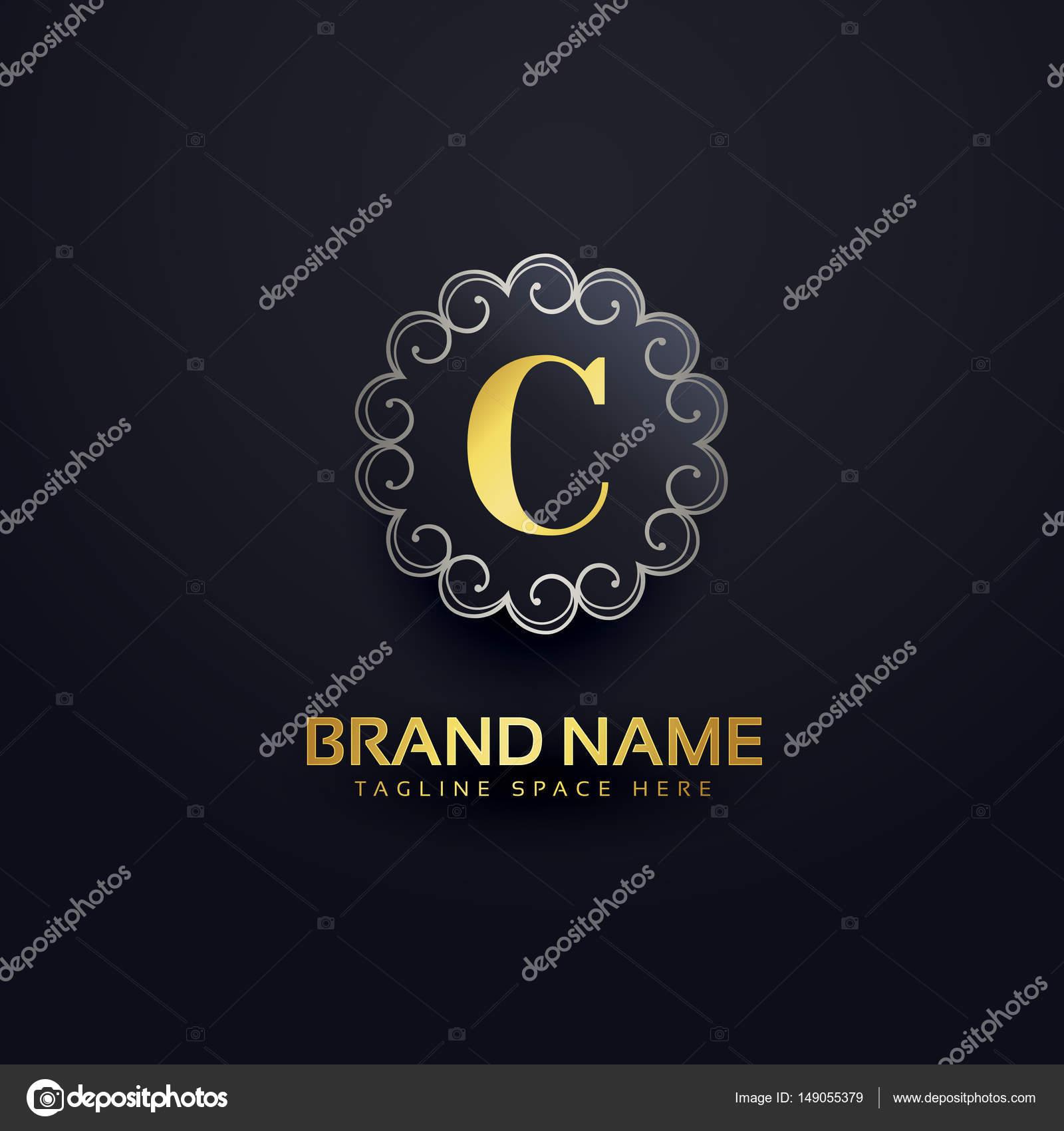 Buchstabe C-Logo mit Wirbel Dekoration — Stockvektor © StarLine ...