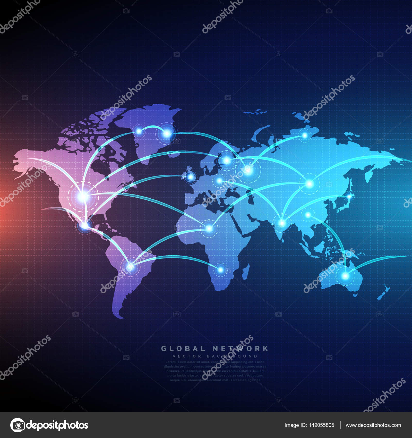 Digital world map linked by lines connections network design stock digital world map linked by lines connections network design stock vector gumiabroncs Gallery