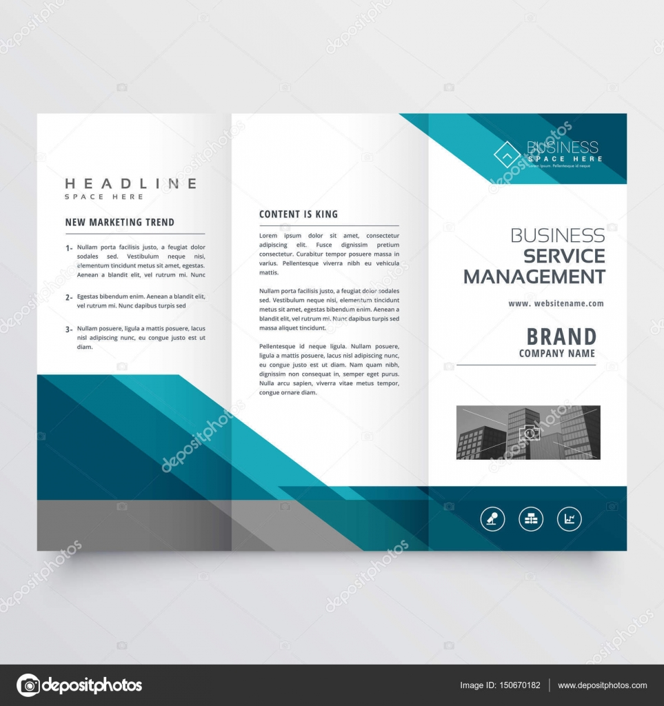 trifold size