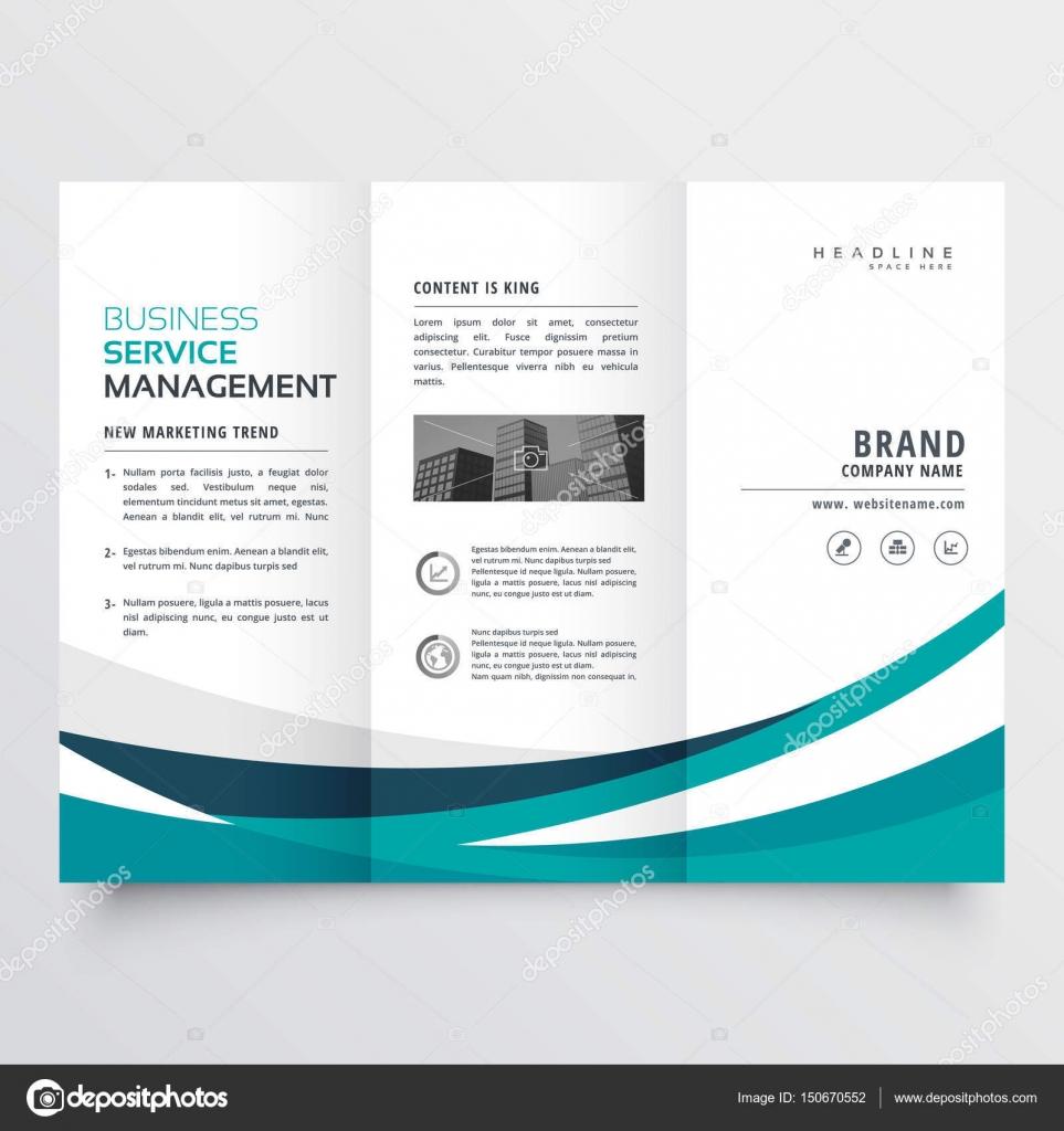 plantilla de diseño de folleto de triple creativo — Archivo Imágenes ...