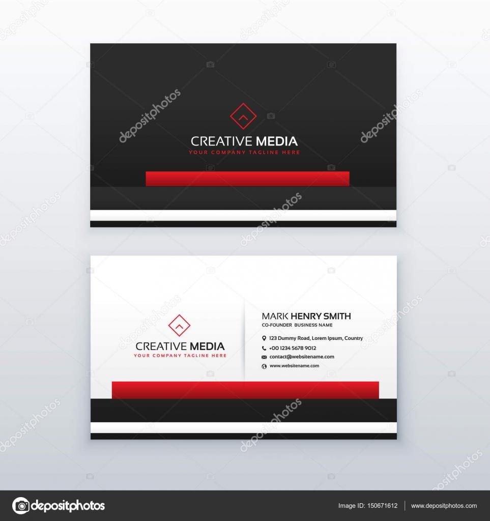 Rot Und Schwarz Professionelle Visitenkarten Design Vorlage