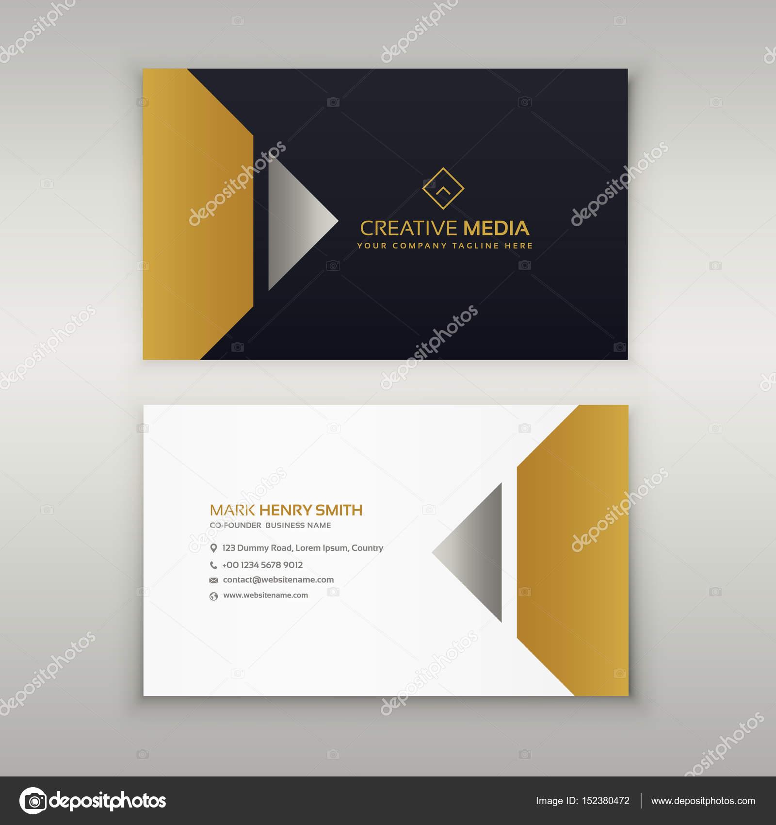 Design De Carte Visite Premium Theme Or Illustration Stock