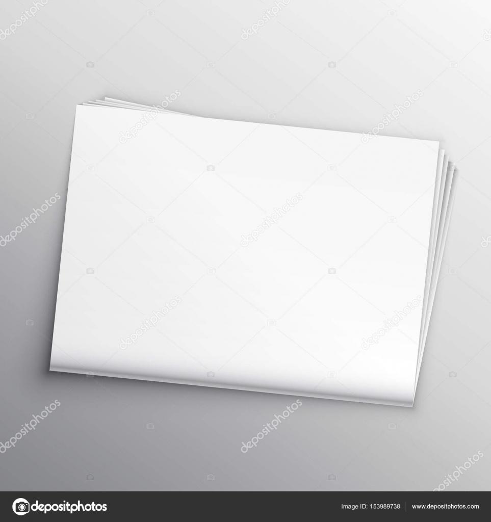 Modèle de conception de maquette journal vierge — Image ...