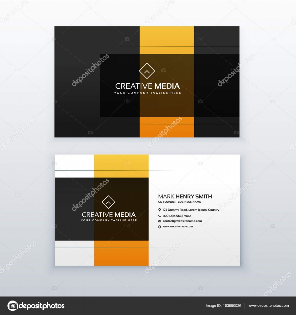 Modern minimal yellow and black business card template design modern minimal yellow and black business card template design stock vector alramifo Images