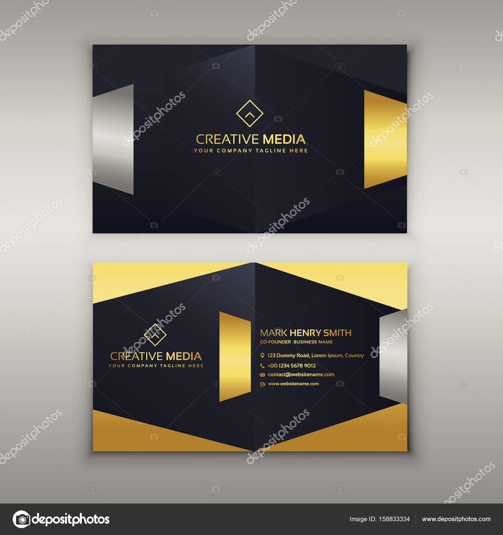 Premium Luxus Visitenkarten Design Vorlage Stockvektor
