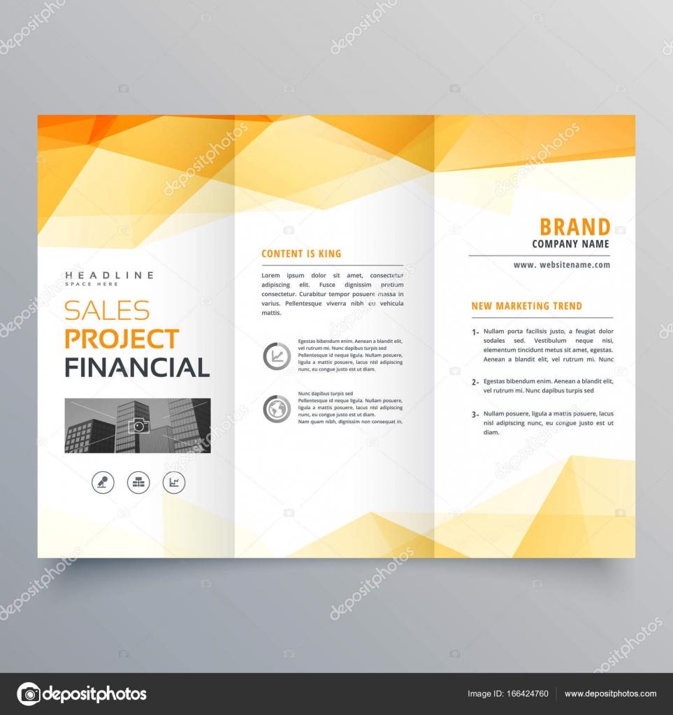plantilla de diseño de folleto creativo de triple naranja Resumen ...