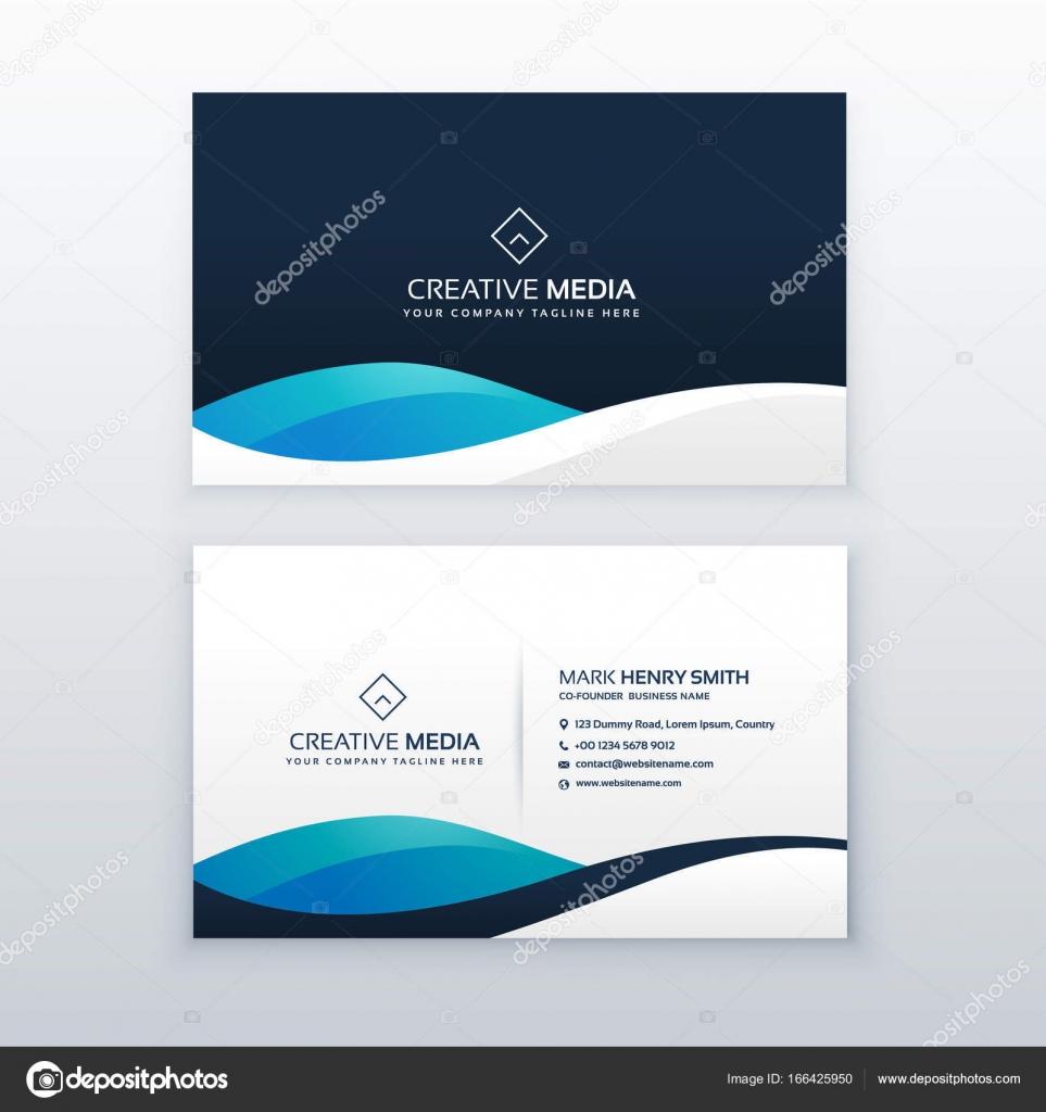 Moderne Blaue Kreative Visitenkarten Design Stockvektor