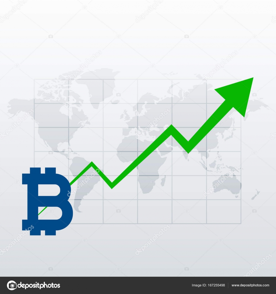 Bitcoins upward trend growth chart vector stock vector bitcoins upward trend growth chart vector stock vector nvjuhfo Gallery