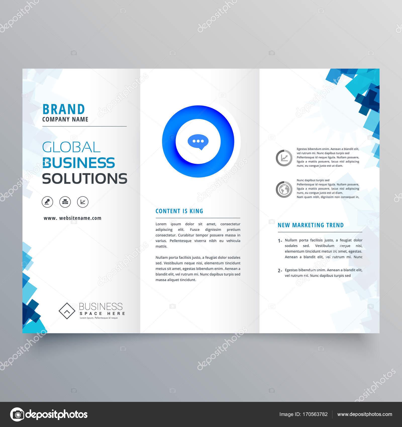 plantilla de diseño de triple negocio folleto vector — Vector de ...