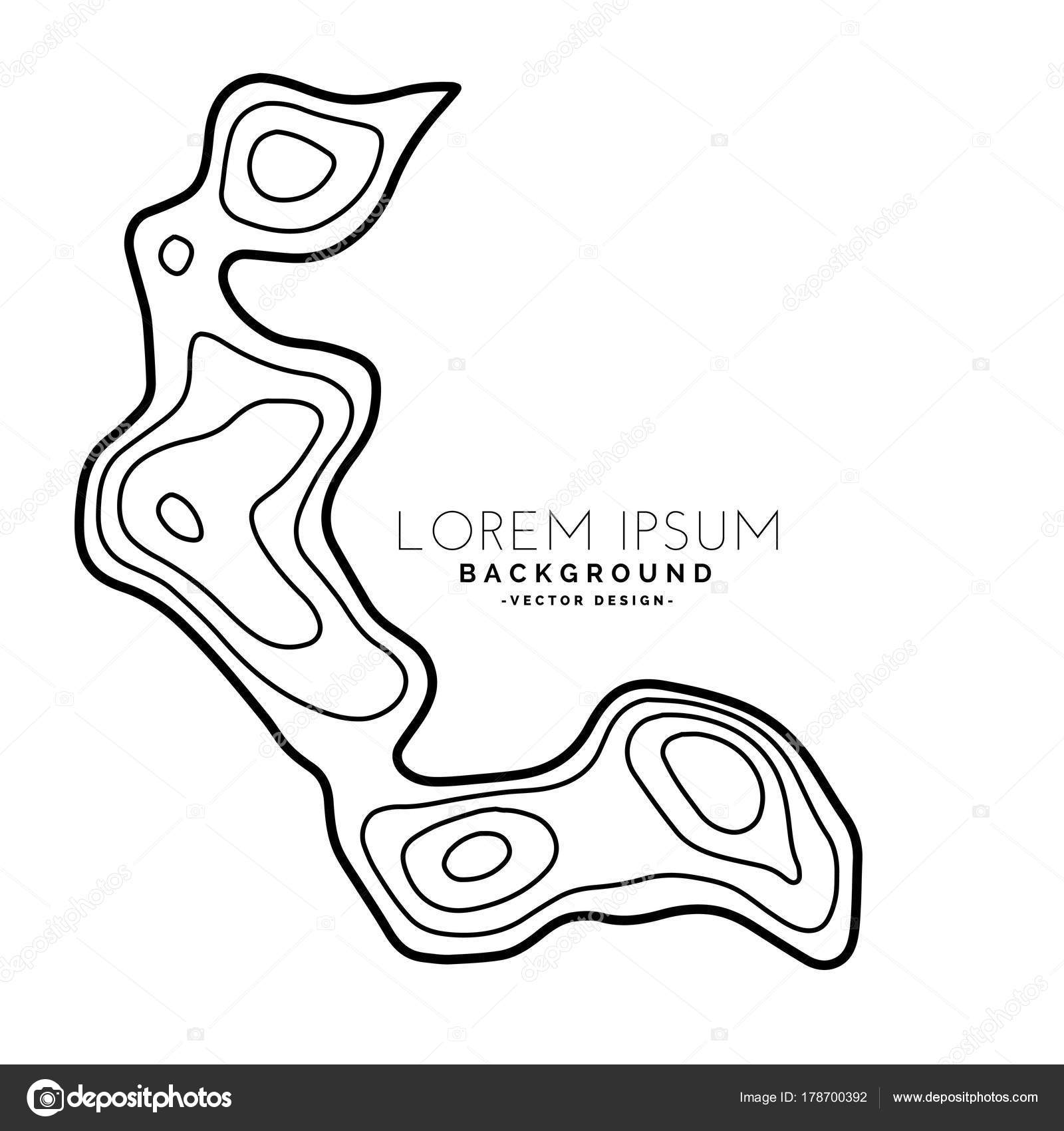 Topographic Map Contour Elevation Background Stock Vector