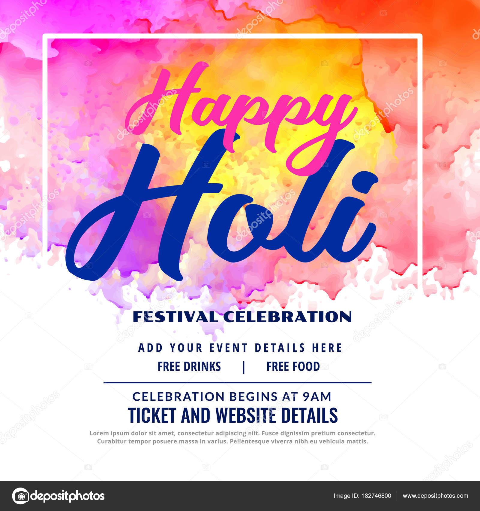 Diseño De Tarjeta De Invitación De Celebración Festival De