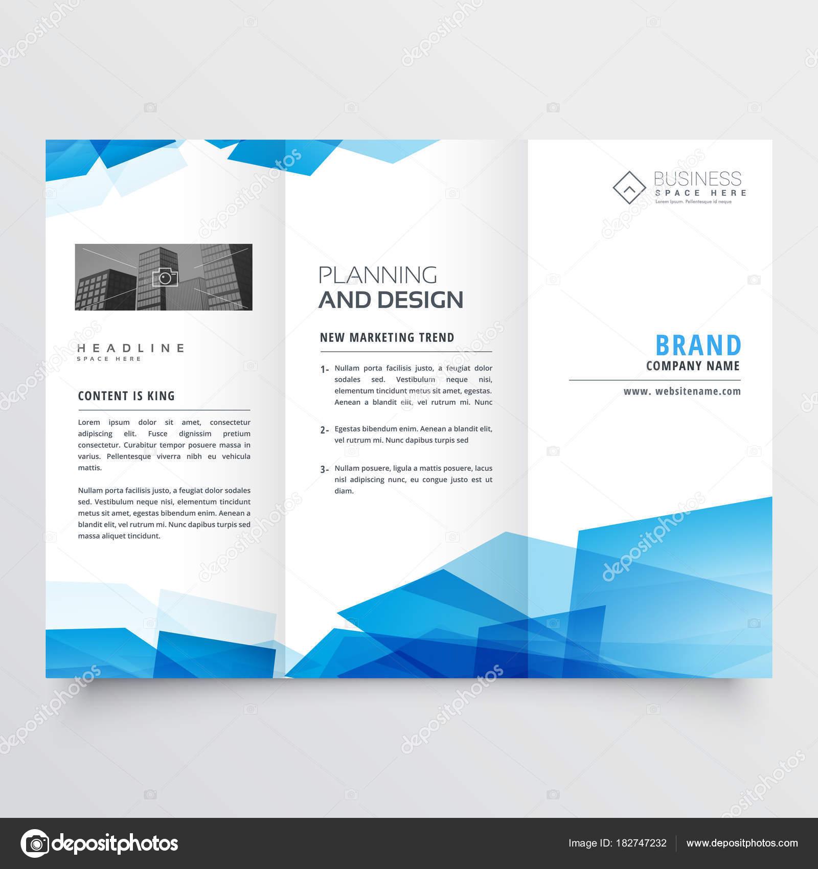 plantilla de diseño de folleto de doblez triple abstracto geométrico ...