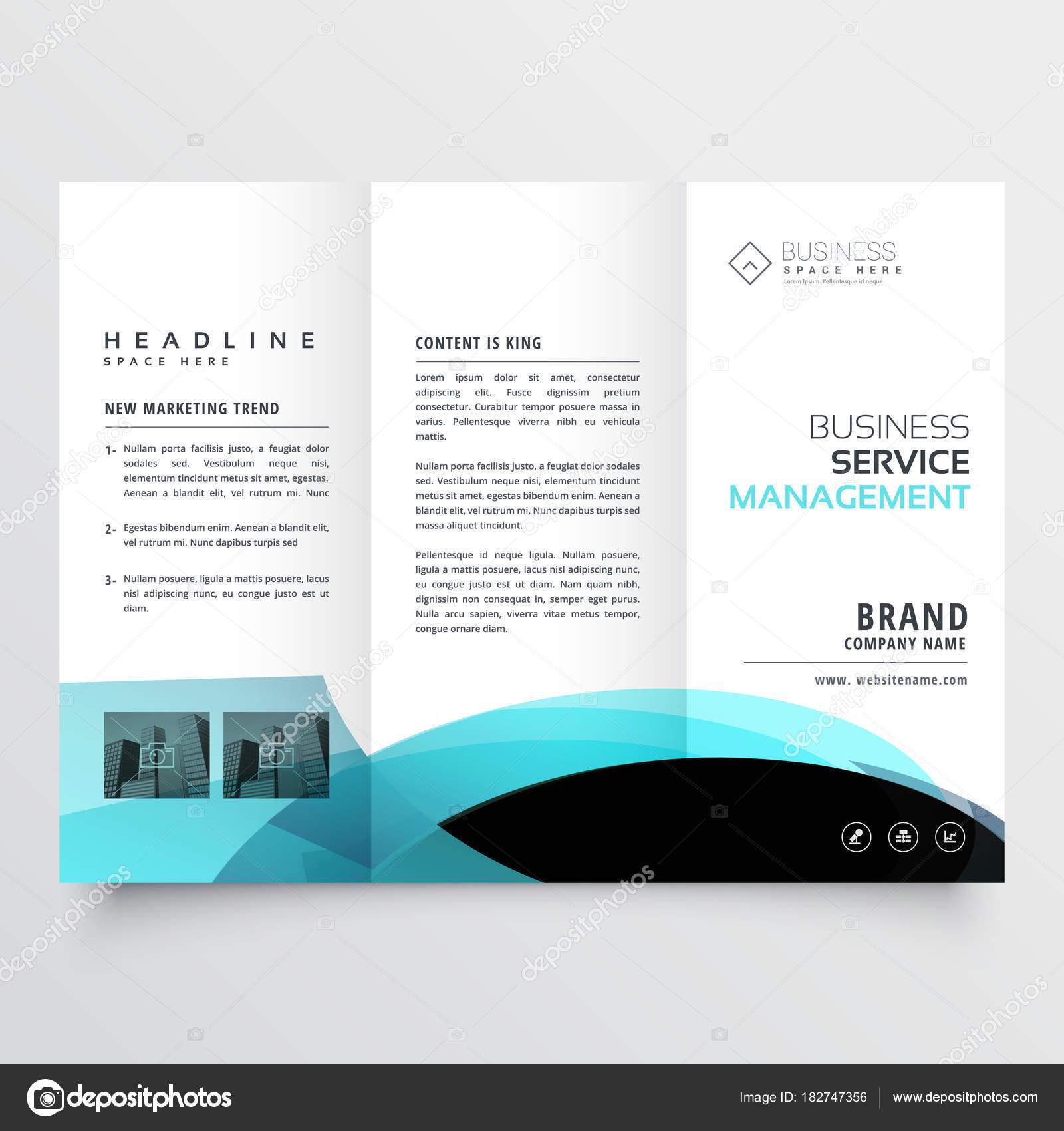 diseño de plantilla de folleto de negocio triple — Vector de stock ...