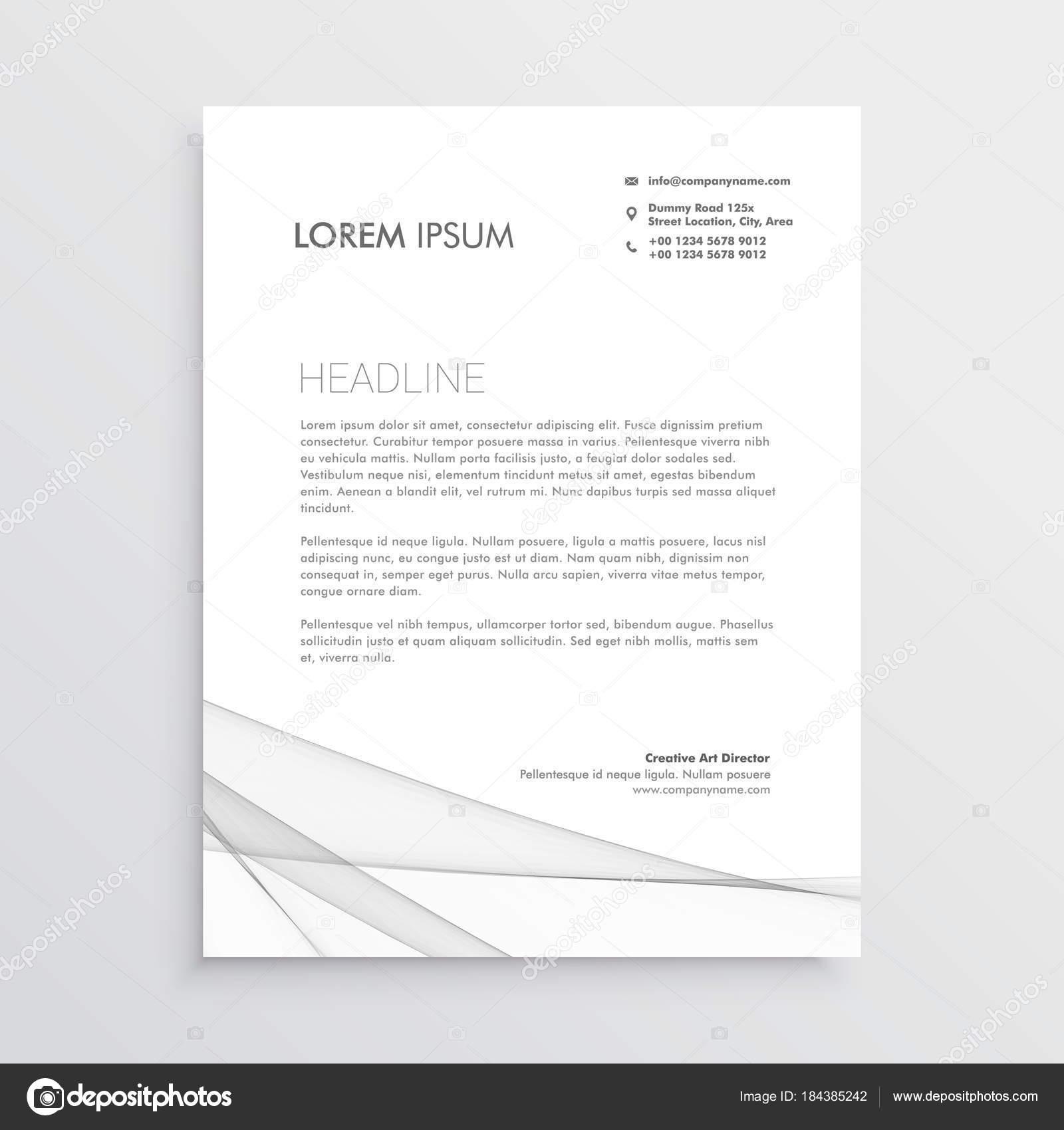 simple letterhead vector design template — Stock Vector © StarLine ...