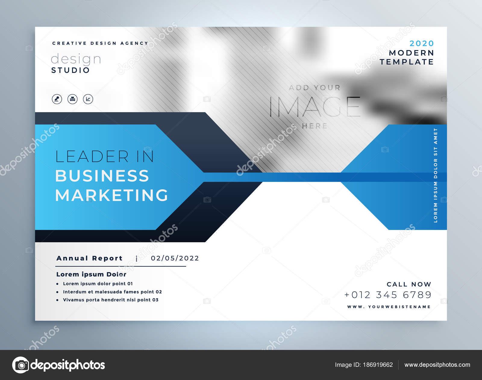 stilvolle blau Business Flyer Design-Präsentation-Vorlage ...