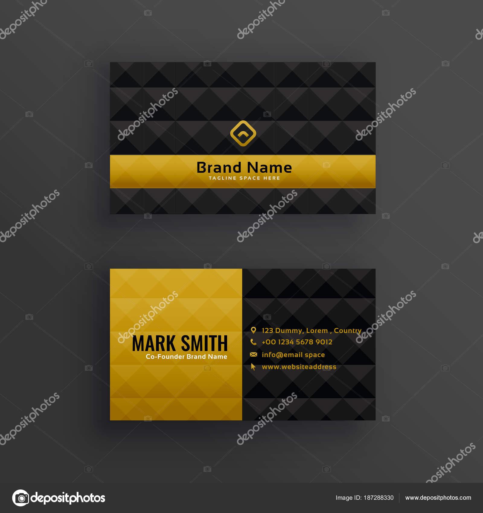 Premium Luxus Visitenkarten Design Mit Diamant Muster