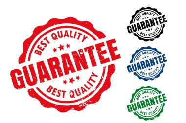 Best quality guarantee rubber label seal stamp set icon