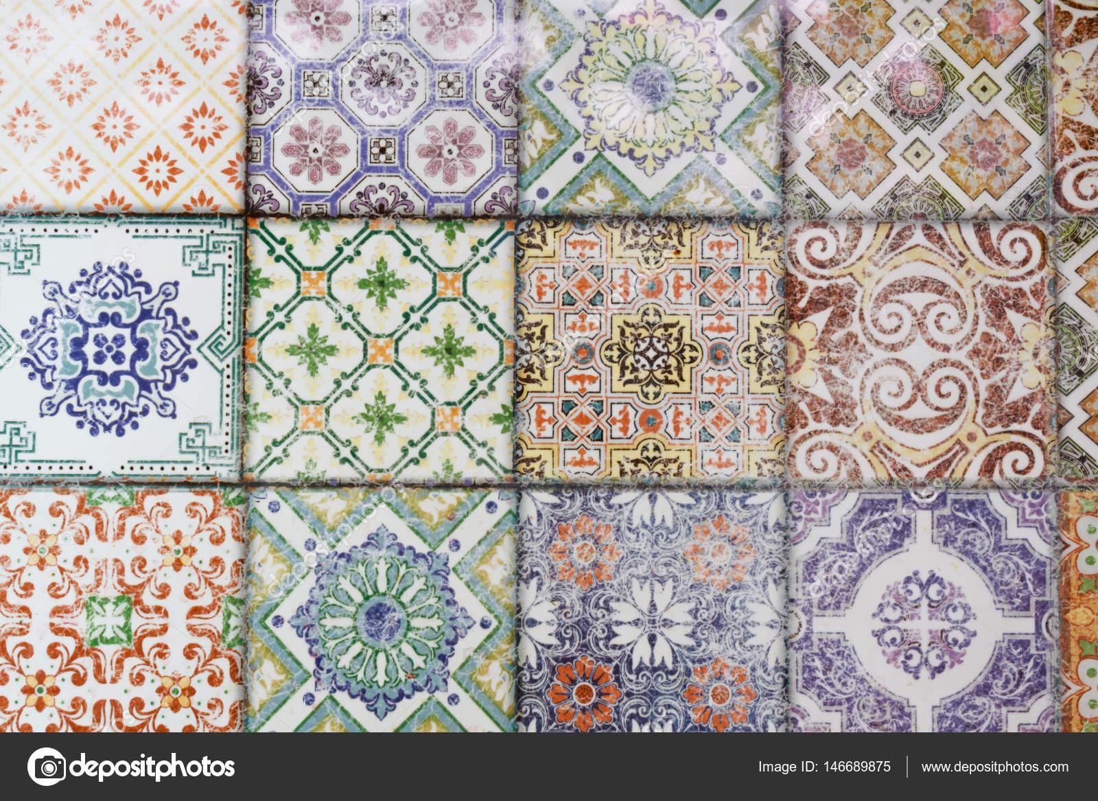 Modelli di decorazione parete e pavimento di piastrelle di ceramica