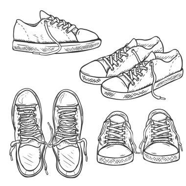 Set of Sketch Gumshoes.