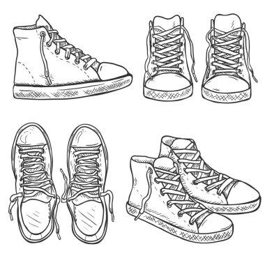 Set of Sketch High Gumshoes.