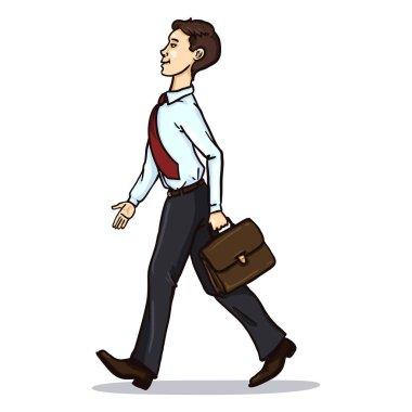 Single Cartoon Business Character.