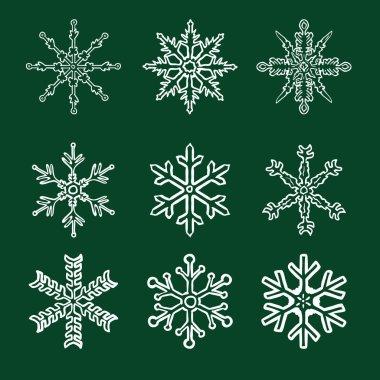 Chalk Sketch Snowflakes