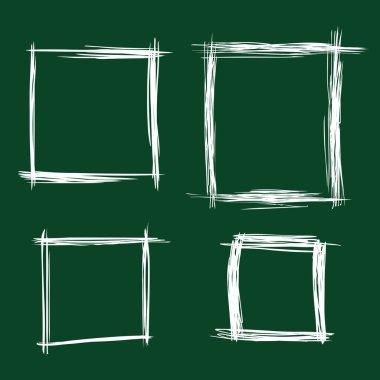Chalk Sketch Rectangle Frames