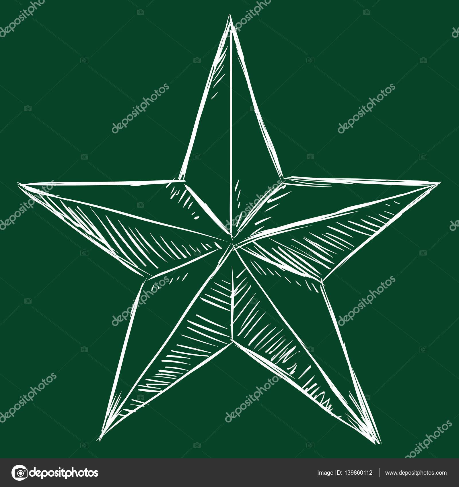 Skizze fünfzackigen Stern — Stockvektor © nikiteev #139860112