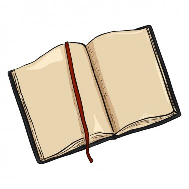 Cartoon Black Diary illustration