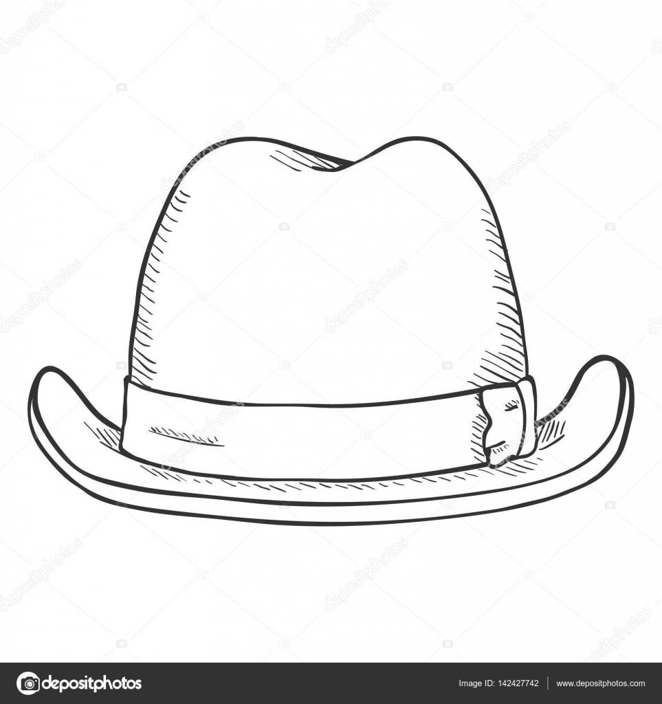 c83697647b907 Classic Homburg Hat — Stock Vector © nikiteev  142427742