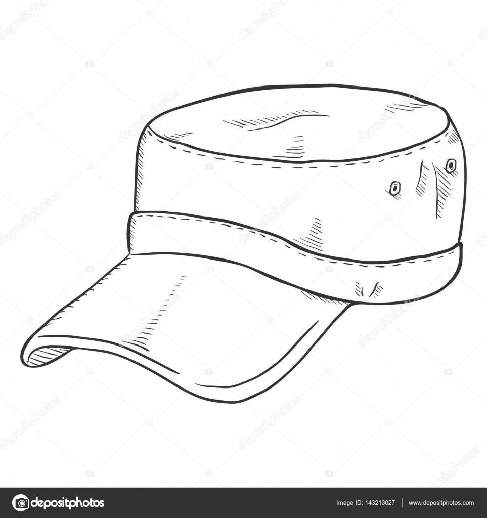 Army Hat Drawing Sketch Army Cap Stock Vector C Nikiteev 143213027