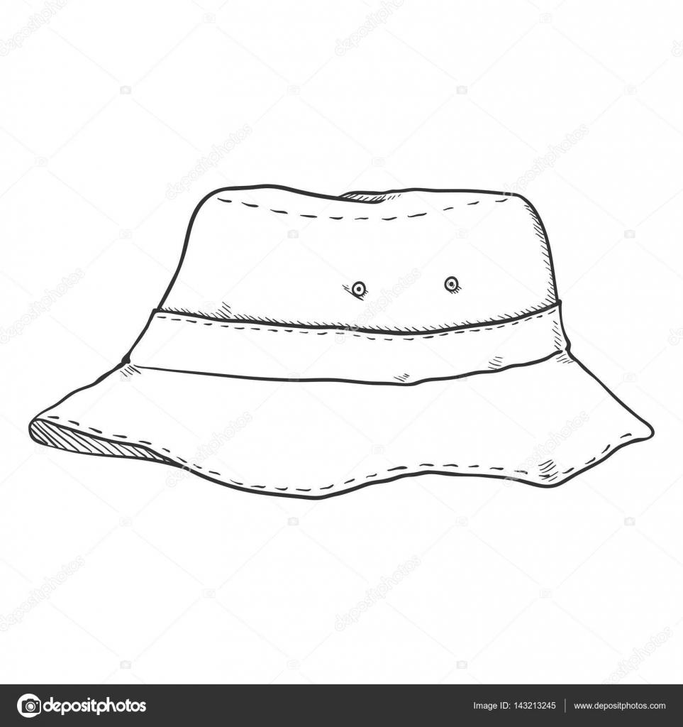 3a3bd338 Sketch Bucket Hat — Stock Vector © nikiteev #143213245