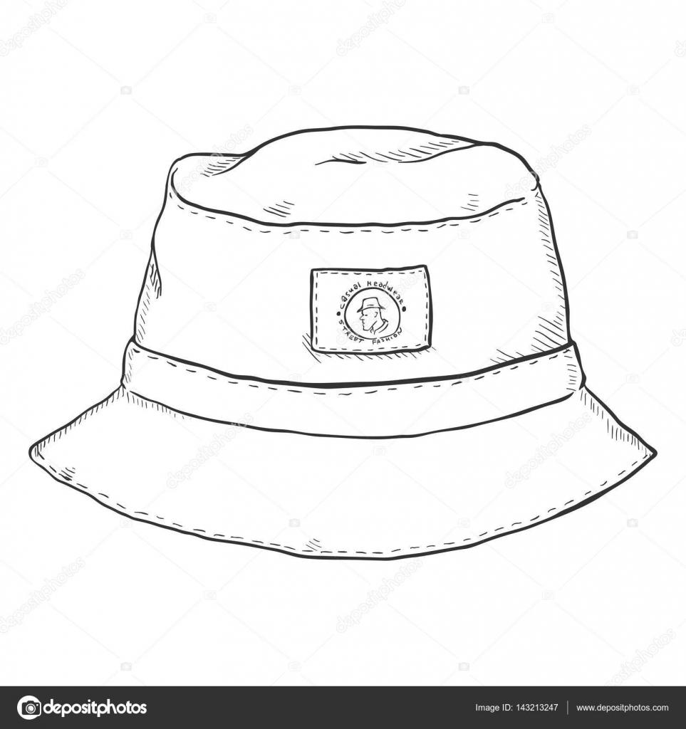 Sketch Bucket Hat — Stock Vector © nikiteev  143213247 7f08271bd18
