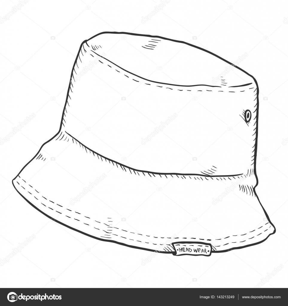 6b1024ba Sketch Bucket Hat — Stock Vector © nikiteev #143213249