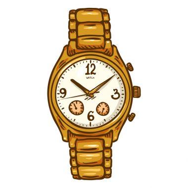 classic golden male wristwatch