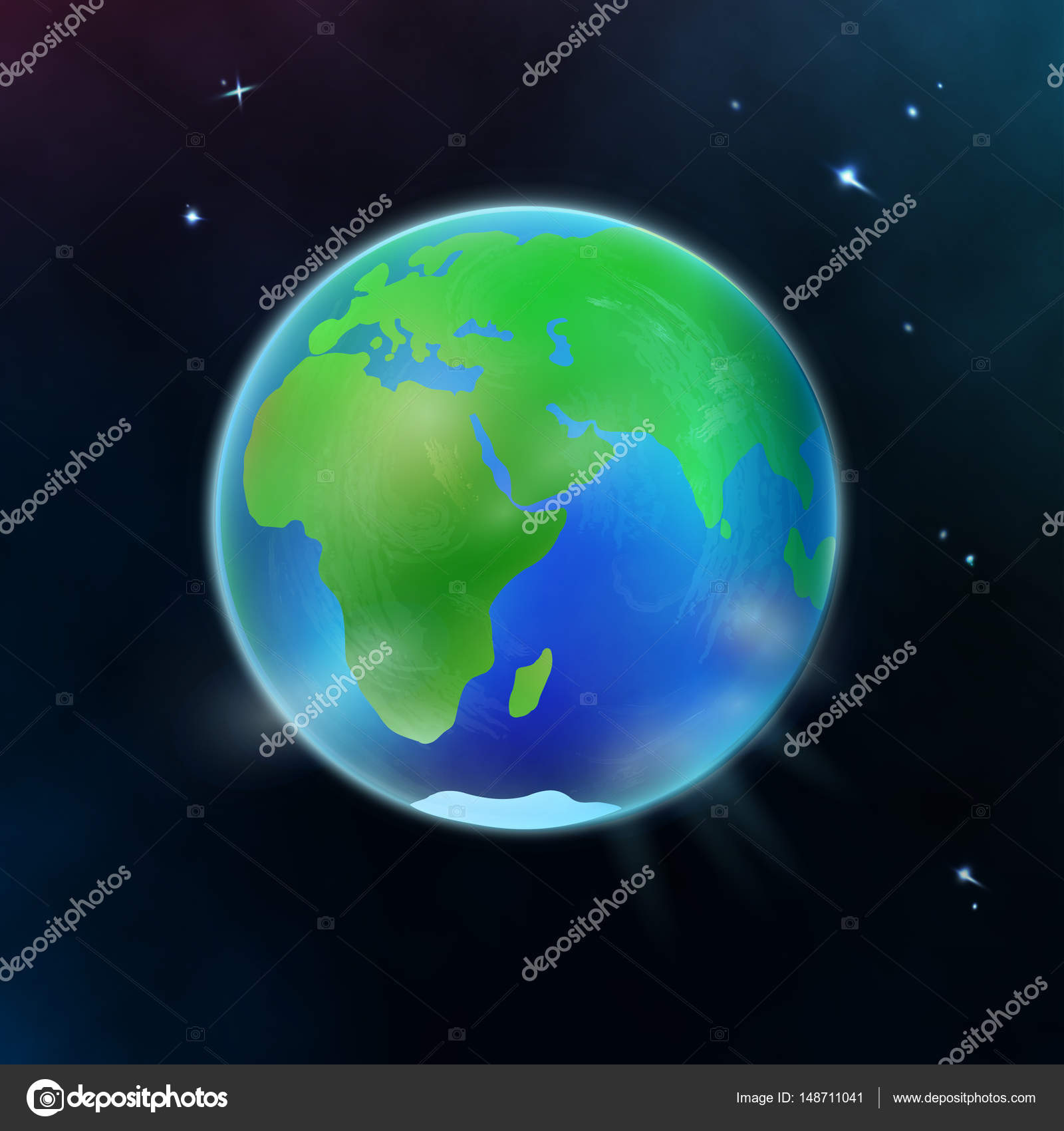 Hand Draw Planet Earth In Space Stock Vector C Nikiteev 148711041