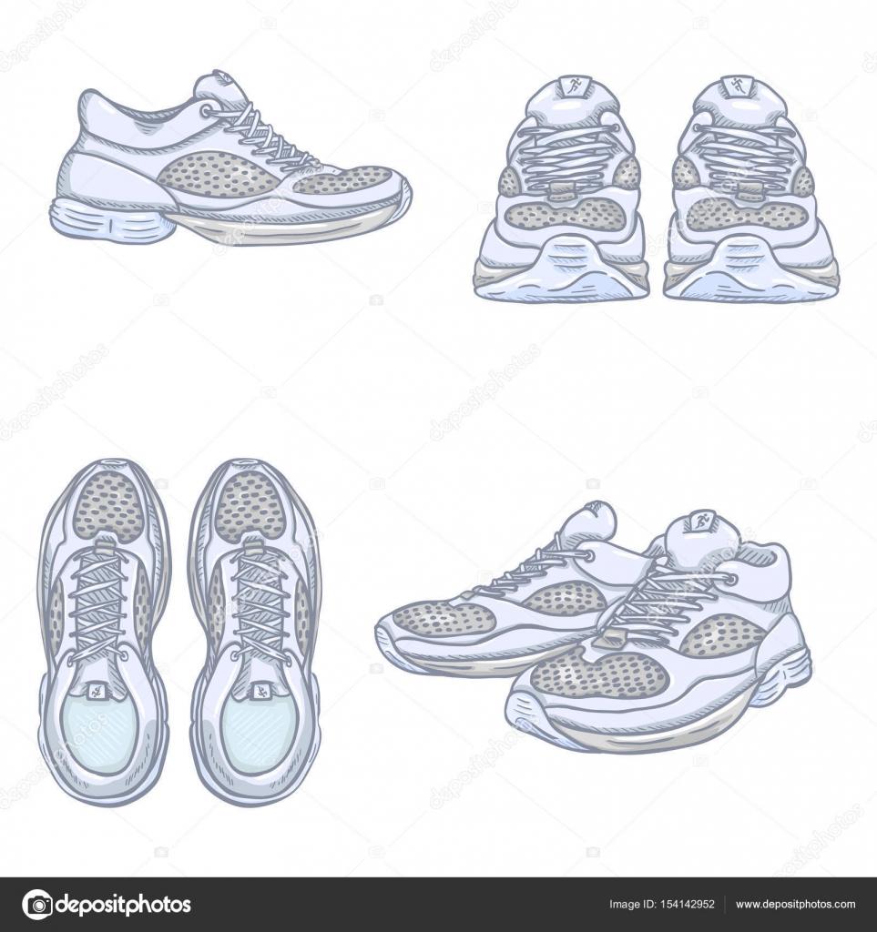 Zapatos De Correr Del Dibujo Animado Archivo Imagenes Vectoriales